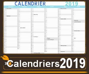 Calendrier A Cocher.Calendrier 2019 A Imprimer Calendriers Imprimables En Pdf