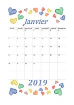 Calendrier de janvier 2019