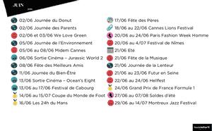 Calendrier juin 2018 imprimer calendriers pdf imprimables - Date des soldes en france ...