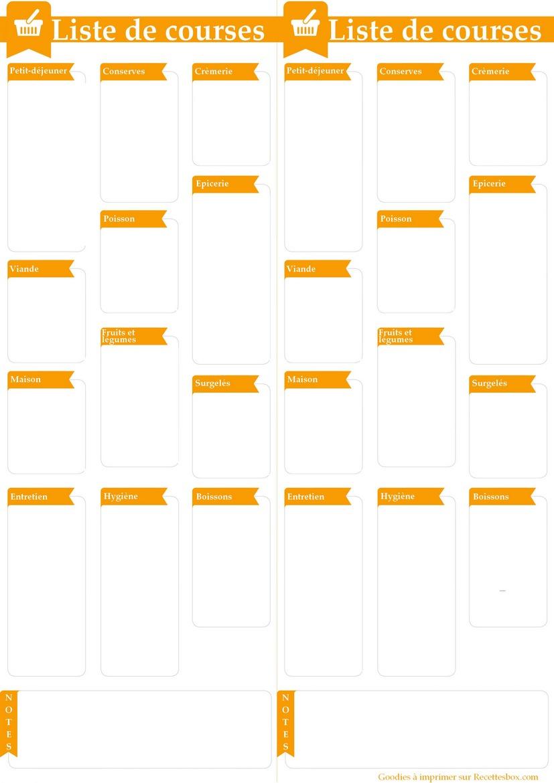 les 12 listes de courses pr tes imprimer mod les pdf et excel. Black Bedroom Furniture Sets. Home Design Ideas
