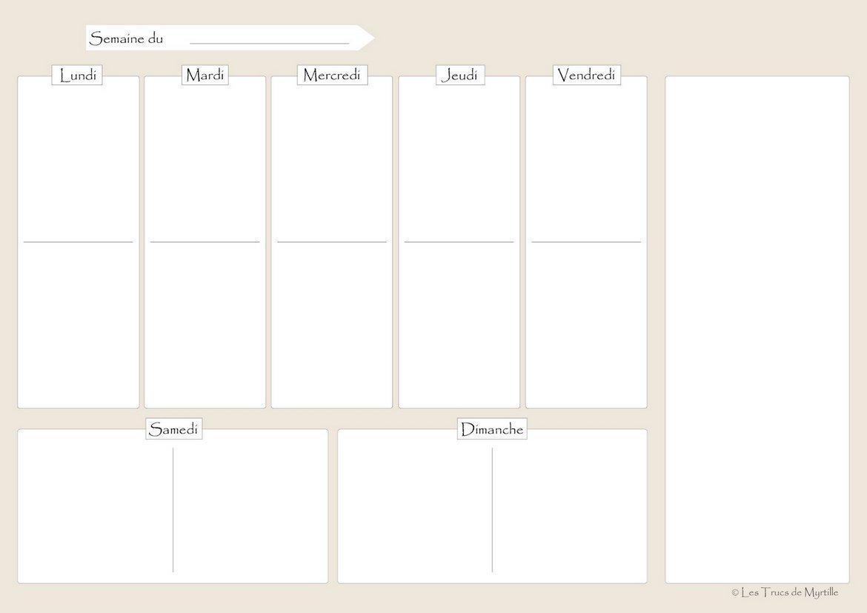 menu de la semaine vierge planning hebdo de repas semainier imprimer. Black Bedroom Furniture Sets. Home Design Ideas