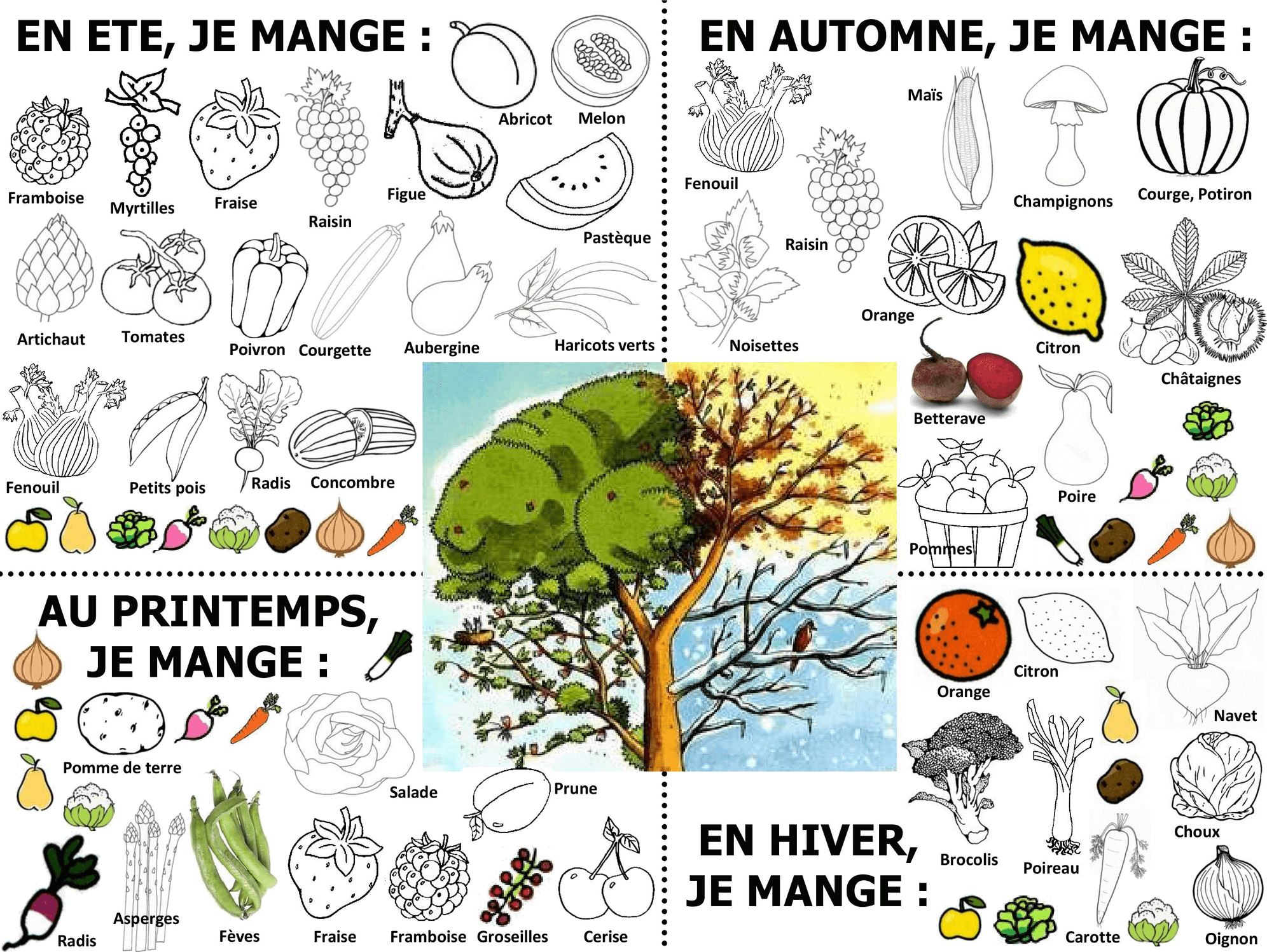 Meilleur De Dessins Fruits Et Legumes A Colorier