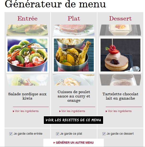 recettes de plats g 233 n 233 rateur de menus repas pour une semaine