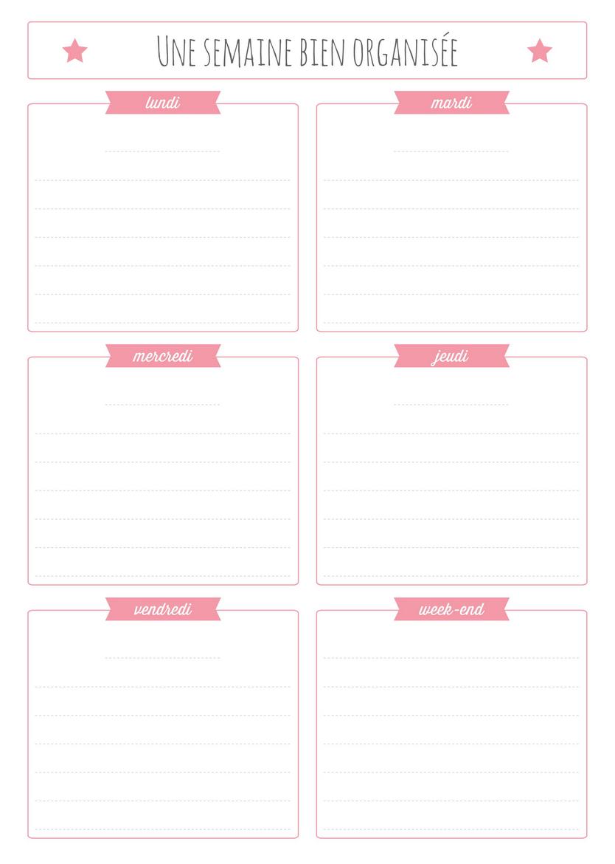 Planning Semaine A Imprimer Gratuit | Calendar Template 2016